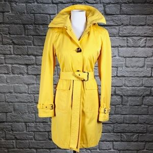 33d7a48c0 Michael Kors Jackets   Coats - Michael Kors Yellow Belted Hooded Trench Coat